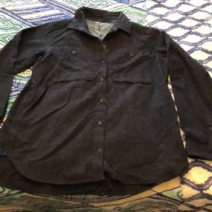 Charcoal Grey Flannel Button Down